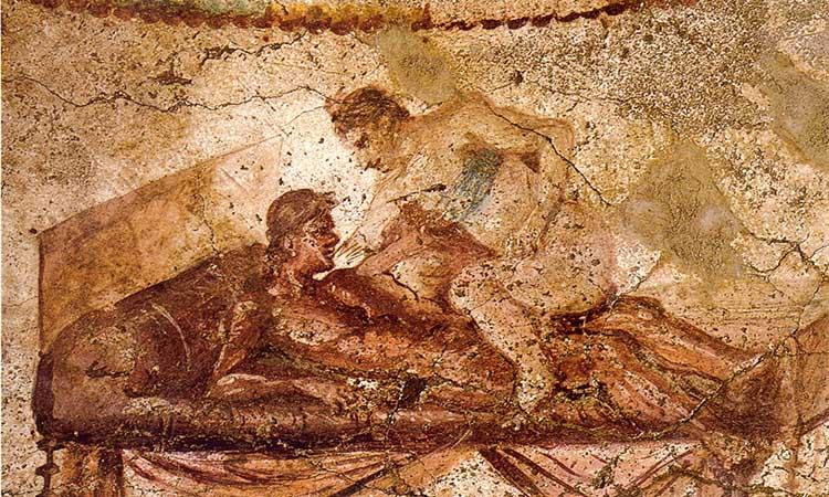 O Lupanar, o mais antigo e mais famoso bordel de Pompeia
